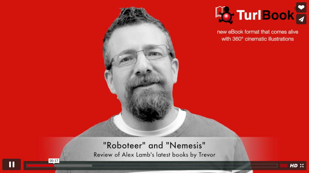 "Book Review on Video: ""Roboteer"" and ""Nemesis"" by Alex Lamb"